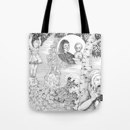"""untitled Xl """" Illustrations from a lost novel"""" Tote Bag"""