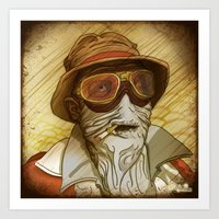 fear and loathing Art Prints featuring Fear and Loathing by Ant Errickson