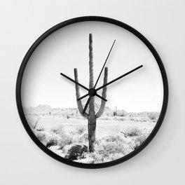 Cactus BW Wall Clock