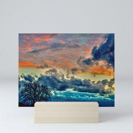 Sunset and Storm Mini Art Print