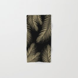 Palm Leaves - Gold Cali Vibes #4 #tropical #decor #art #society6 Hand & Bath Towel