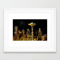seattle Framed Art Prints featuring Seattle by Paul Kimble