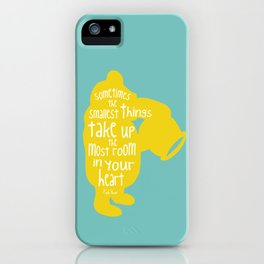 Sometimes the Smallest things - Winnie the Pooh inspired Print iPhone Case