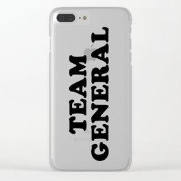 TEAM GENERAL Clear iPhone Case
