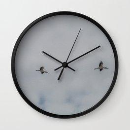 Woodstorks in Flight Wall Clock