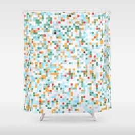 handmade coloured squares Shower Curtain
