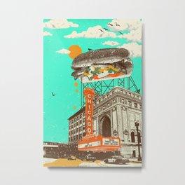 CHICAGO DOG Metal Print