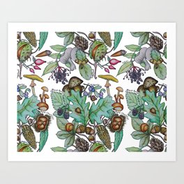 English Autumn Forest Art Print