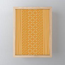 Milenesa Mustard Mud Cloth Framed Mini Art Print