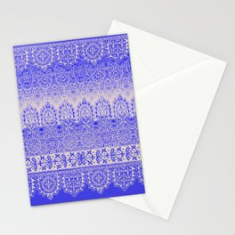 crochet lace mixed in blue Stationery Cards