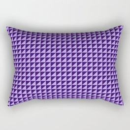 Purple Triangulate Rectangular Pillow