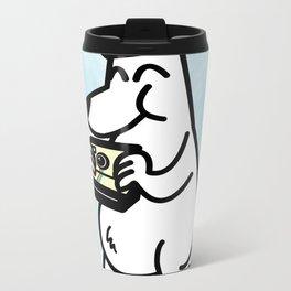 Polaroid Bear Metal Travel Mug