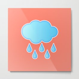 My Rainy Cloud Metal Print