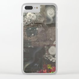 Swirley Space Clear iPhone Case