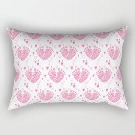 Baby feet background 9 Rectangular Pillow