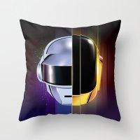 daft punk Throw Pillows featuring Daft Punk by Alevan