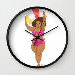 Resting Beach Face: Thighs Wall Clock