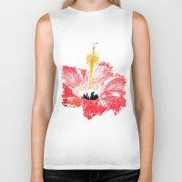 hibiscus Biker Tanks featuring Hibiscus by Regan's World
