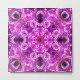 Cosmic Emergence Mandala Metal Print