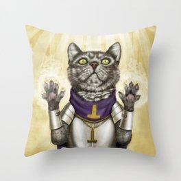Cleric Cat Throw Pillow