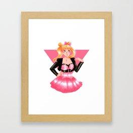 Sailor Moon 80s Style Framed Art Print