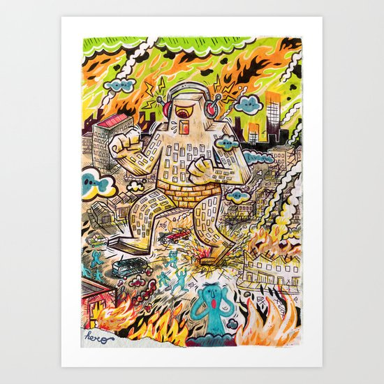 Rock The Town ! Art Print