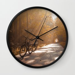 Morning Autumn Forest Wall Clock