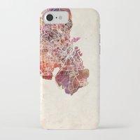 copenhagen iPhone & iPod Cases featuring Copenhagen by MapMapMaps.Watercolors