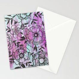 Watercolor Wildflowers Stationery Cards