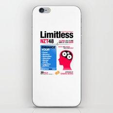 Limitless NZT 48 Pill Exist! Bradley Cooper / Robert De Niro (2nd Version) iPhone & iPod Skin