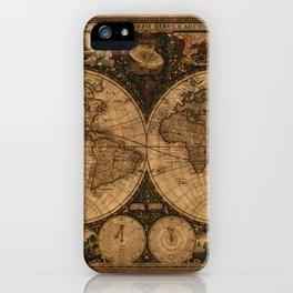Nova Totius Terrarum Vintage Map iPhone Case