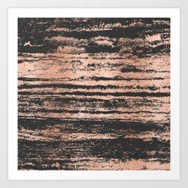 Marble Black Rose Gold - Never Mind Art Print