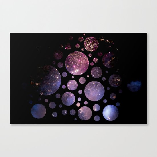 Abstract Fireworks #1 Canvas Print