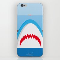 jaws iPhone & iPod Skins featuring Jaws by Daniel Anastasio