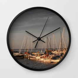 Horumersiel marina lower saxony Germany ( Northsea ) Wall Clock