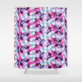 Rainbow Down Abstract Watercolor Painting Shower Curtain