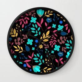 Summer flowers pattern Wall Clock