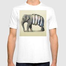 Inner Space Elephant White Mens Fitted Tee MEDIUM
