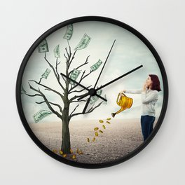money tree Wall Clock