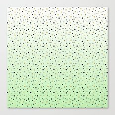 Chic Mint Black Gold Ombre Confetti Canvas Print