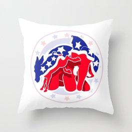 Political Fight Throw Pillow