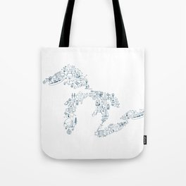 Great Lakes Up North Collage Tote Bag
