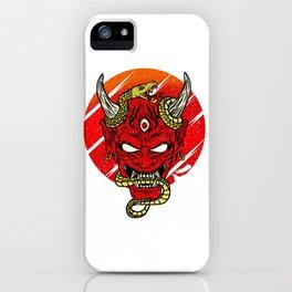 Japanese Occult Demon Mask Devil Oni Harajuku T-Shirt iPhone Case