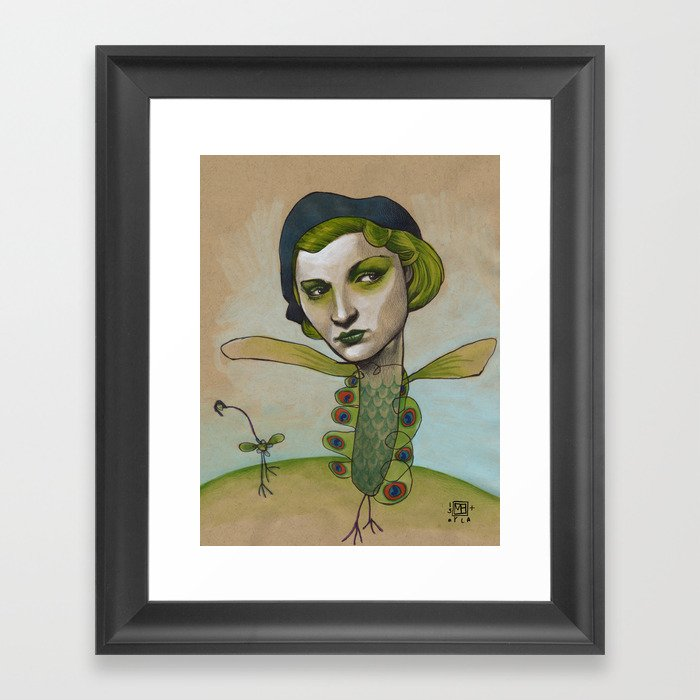 PRETTY'S ON THE INSIDE Framed Art Print