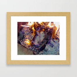 Beautiful Journal Burning Framed Art Print