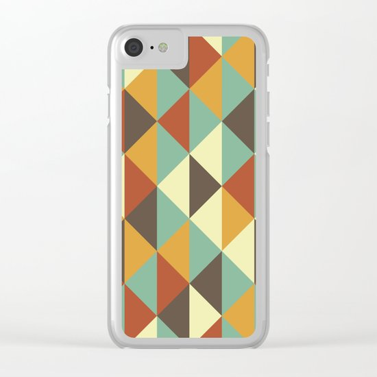 Triangle stencil Clear iPhone Case
