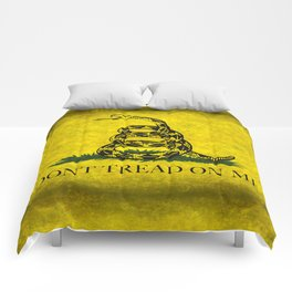 Gadsden Don't Tread On Me Flag - Distressed Retro Comforters