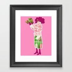 Floral Coat Pink Framed Art Print