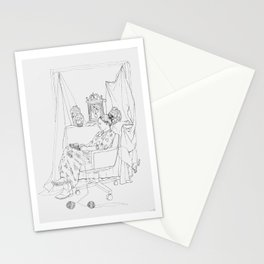 Knitting Illustration Stationery Cards