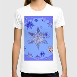 """BLUE SNOW ON SNOW"" BLUE WINTER ART T-shirt"